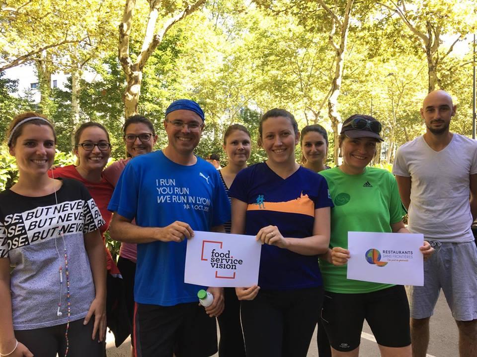 Entrainement Run in Lyon pour Restaurants Sans Frontières _FSV